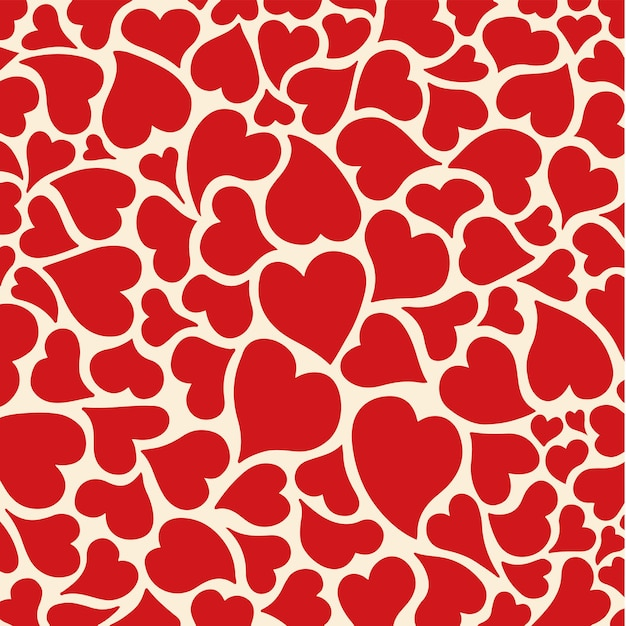Liebe symbol muster hintergrund valentine vector illustration