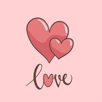 Liebe symbol valentinsgruß-vektor-illustration