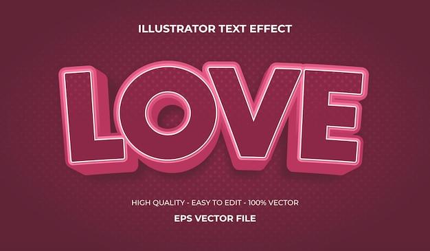 Liebe text-effekt