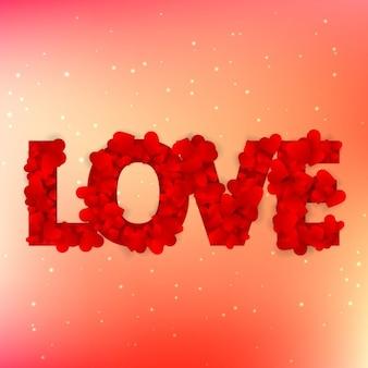 Liebe text mit herzen geschrieben