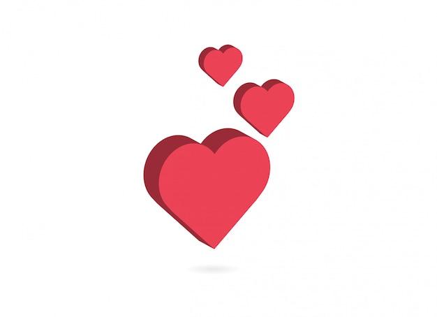 Liebe und herz-symbol.