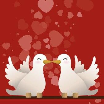 Liebe und romantisches ikonendesign