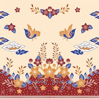 Liebe vogel batik