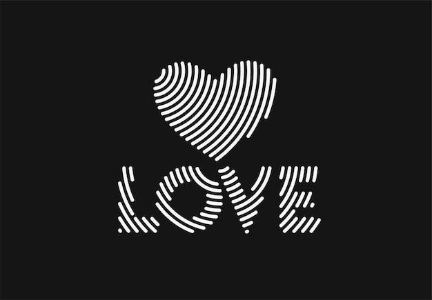 Liebe wortbeschriftung. moderner kalligraphie-skript-liebestext. vektordesign