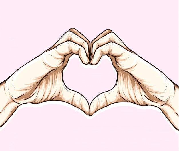 Liebe zeichen hand