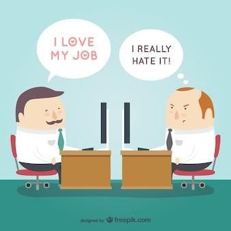 Lieben oder hassen ihren job