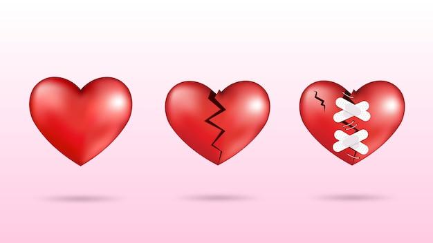 Lieben sie, brechen sie u. bessern sie auf, spezielle grafik des valentinsgrußes