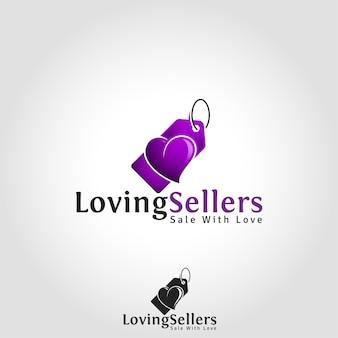 Liebender verkäufer - verkauf mit liebe