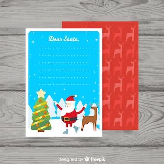 Lieber weihnachtsbrief und umschlagsatz