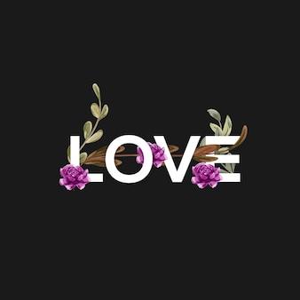 Liebes-schriftzug