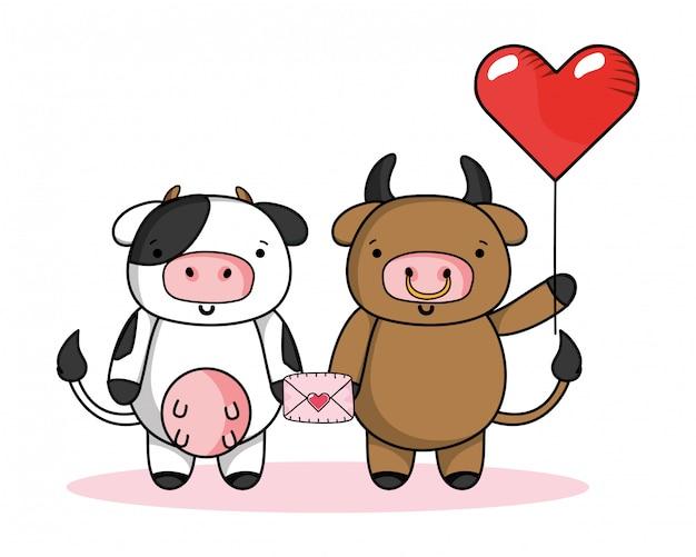 Liebes- und tierkarikaturen
