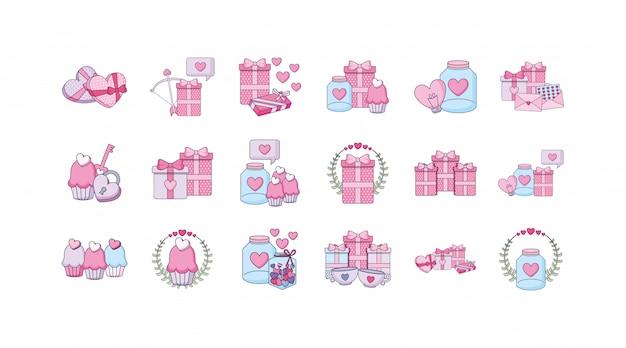 Liebes- und valentinstagikonensatz