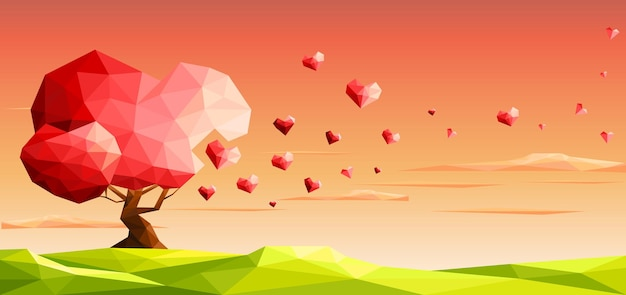 Liebesbaum mit herz verlässt valentinstag