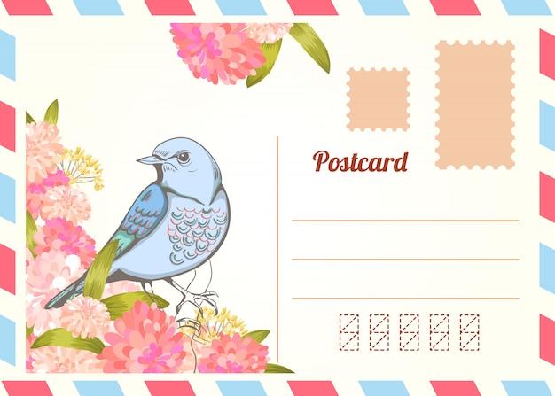 Liebesbrief mit vogel.