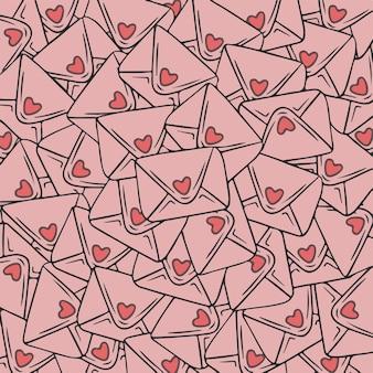 Liebesbriefe muster hintergrund valentine vector illustration