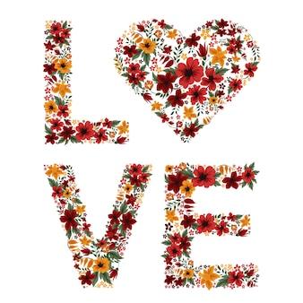 Liebesbriefe von blumen