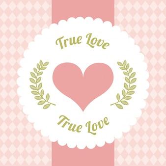 Liebesdesigntag über rosa hintergrundvektorillustration