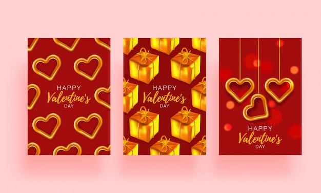 Liebesgeschichte gesetzt banner. festlicher romantischer hintergrund. liebesplakat spezielles konzept. werbebroschüre zum valentinstag.
