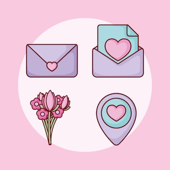 Liebesherz e-mail-bouquet online-dating-set