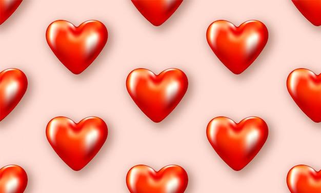 Liebesherz valentines. romantischer tag backround plakat zur förderung. spezielle vorlage für liebesgeschichten. romantisches banner.