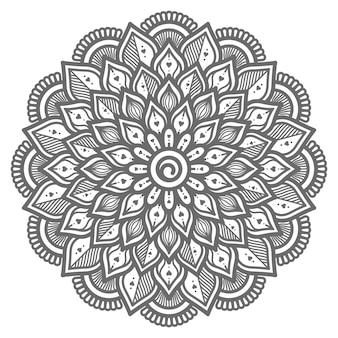 Liebeskonzept handgezeichnete mandala-illustration für abstraktes und dekoratives konzept