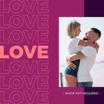 Liebespost zum valentinstag