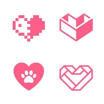 Liebessymbol oder valentinstagszeichen zum feiern, vektorsymbol isoliert auf weißem hintergrund, trendiger stil.