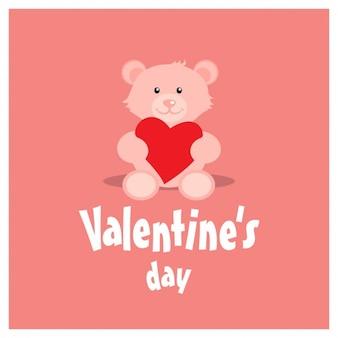 Liebevoll ausgestopften bären für den valentinstag