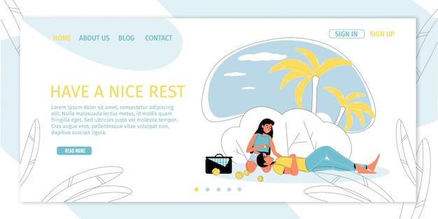 Liebhaber auf romantischem sommerpicknick im wald im freien.