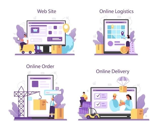 Lieferanten-onlinedienst oder plattformsatz