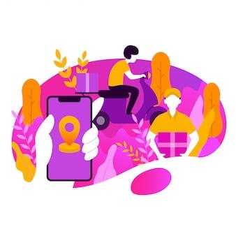 Lieferauftrag vektor-illustration