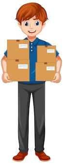 Lieferbote in uniform Kostenlosen Vektoren