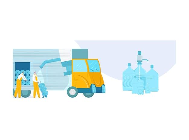 Lieferökologie bio frisches sauberes trinkwasser
