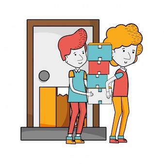 Lieferservice-cartoon