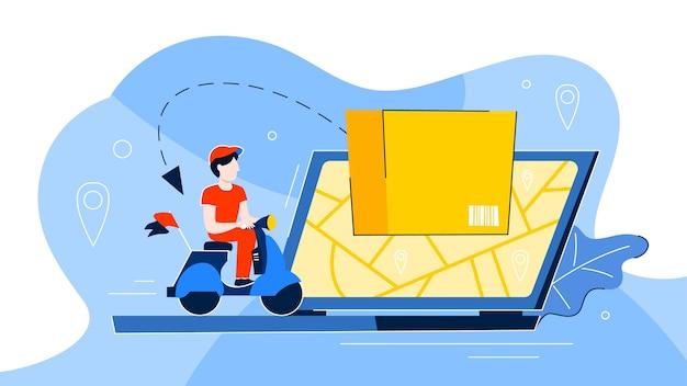 Lieferservice-konzept. logistik- und transportillustration