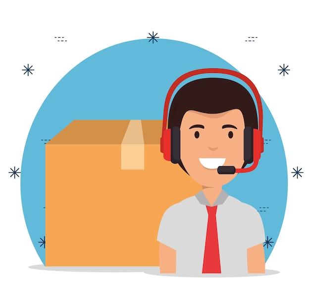 Lieferservice mit call center agent