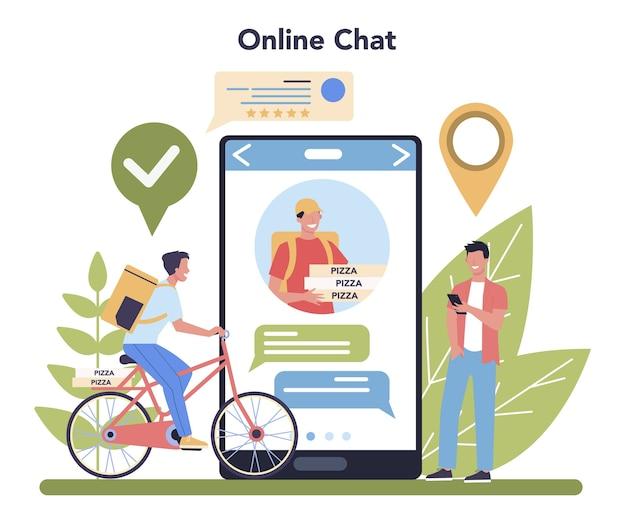 Lieferservice online-service oder plattform