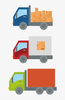 Lieferung design illustration