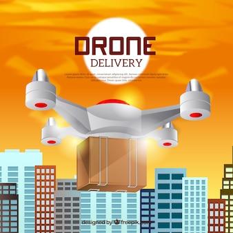 Lieferung drone design in der stadt