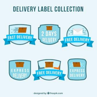 Lieferung etikettensammlung mit boxen