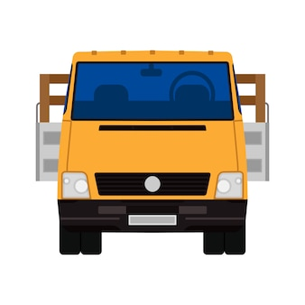 Lieferung getrennter lkw-frachttransport. lieferwagen kommerziell. logistisches automobil der flachen industrie