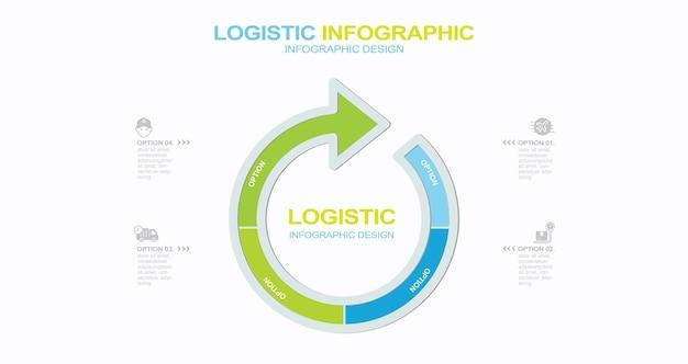 Lieferung infografik design stock illustration frachttransport distributionslager