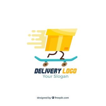 Lieferung logo vorlage mit farbverlauf