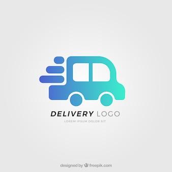 Lieferung logo vorlage mit lkw