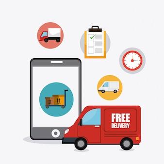 Lieferung, transport und logistik