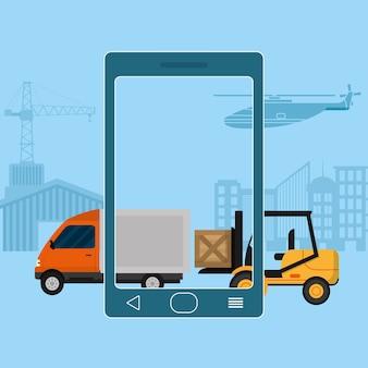 Lieferung und Logistik Business-Service