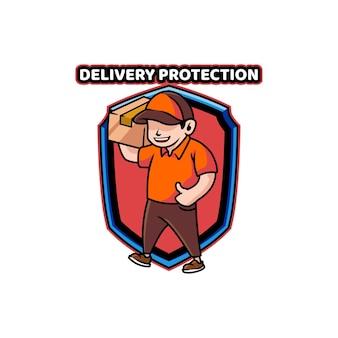Lieferung versandschutzbox schild liefern kerl