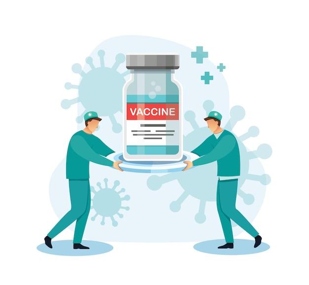 Lieferung von covid19-impfstoffen medizinisches gesundheitskonzept