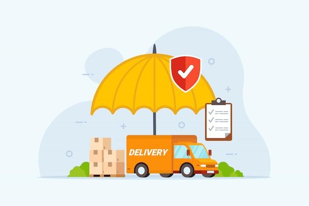 Lieferversicherung mit regenschirmschutz