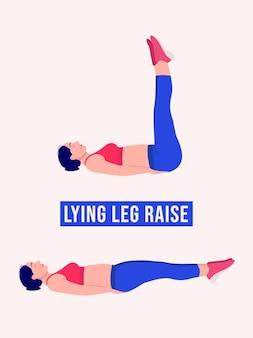 Liegende beinheben übung frauentraining fitness aerobic und übungen